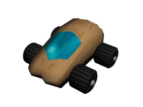 free gnome car 3d model
