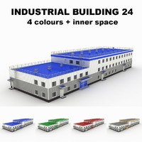 3d medium industrial building 24
