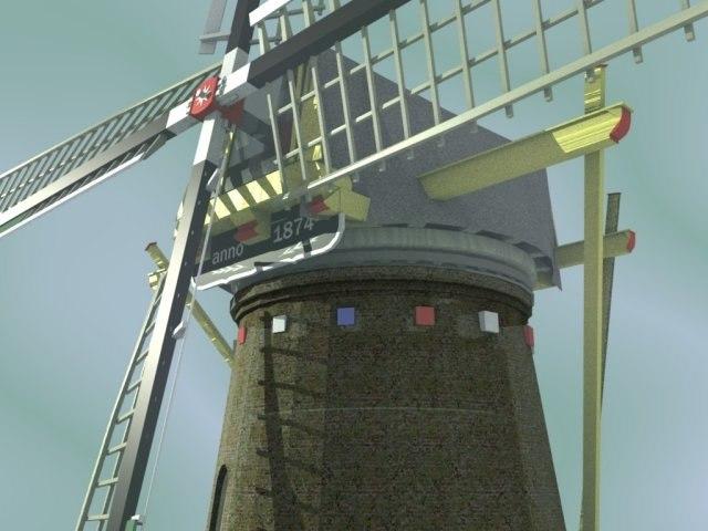3d realistic windmill