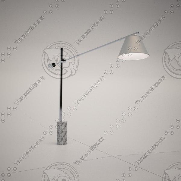 cattelan italia libra floor lamp 3d obj