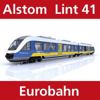 c4d lint passenger train eurobahn