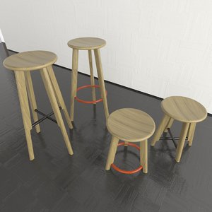 3ds max noughts crosses stools