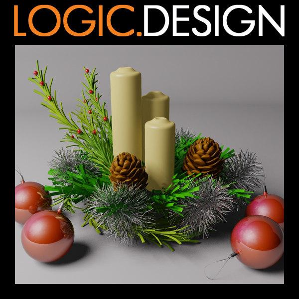 christmas ornament 3d 3ds