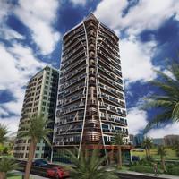 Modern Residence Building Scene