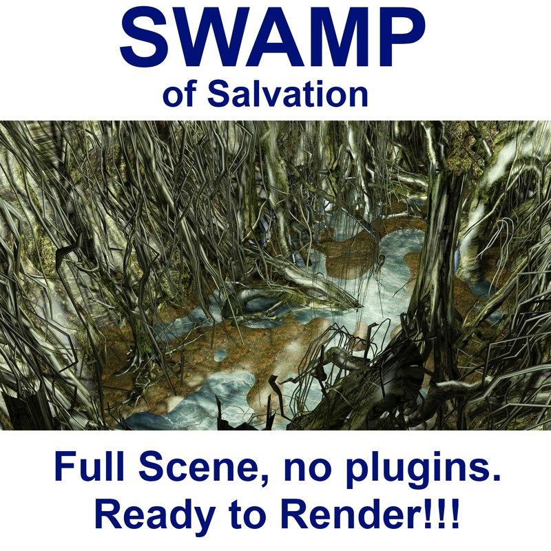 3d model swamp yoda