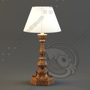 reading-lamp chelini rovere art 3d model