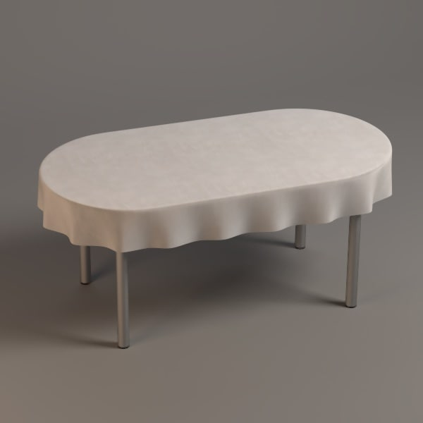 oval table 3ds