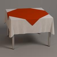 3d model square table