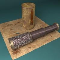 telescope case pirate 3d 3ds