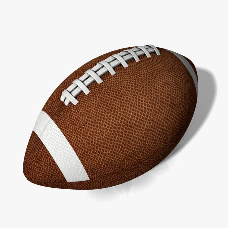 3d obj football ball