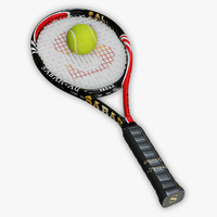 Tennis Racket and Ball 02
