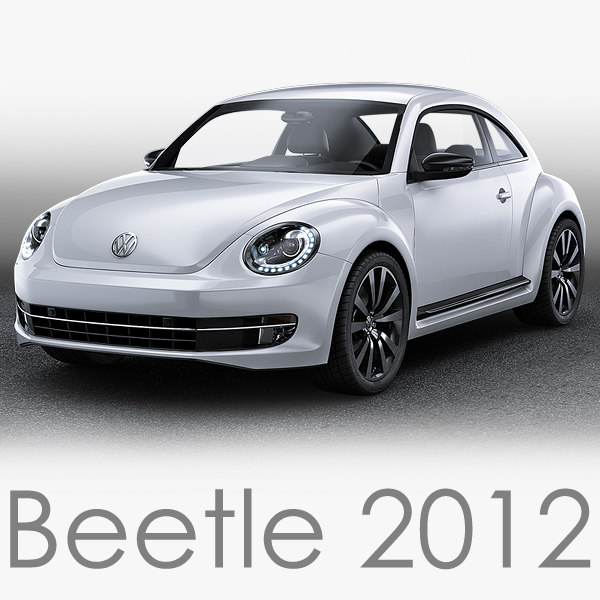 3d model volkswagen beetle 2012
