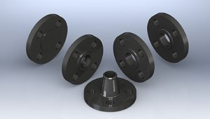 ¾ 150 forged flanges 3ds