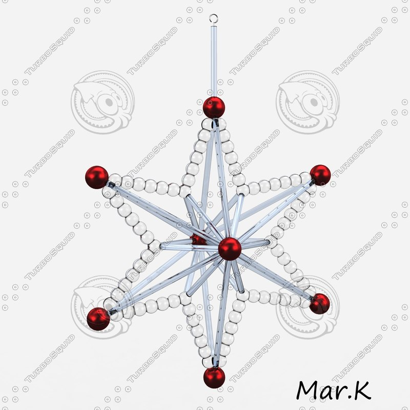 christmas decoration star 3d model