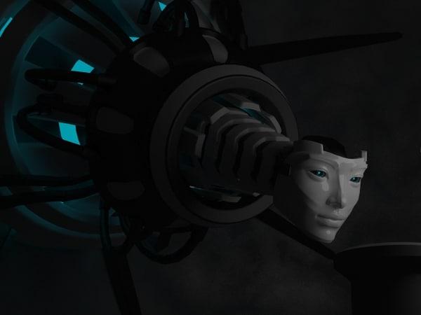 3d robot queen