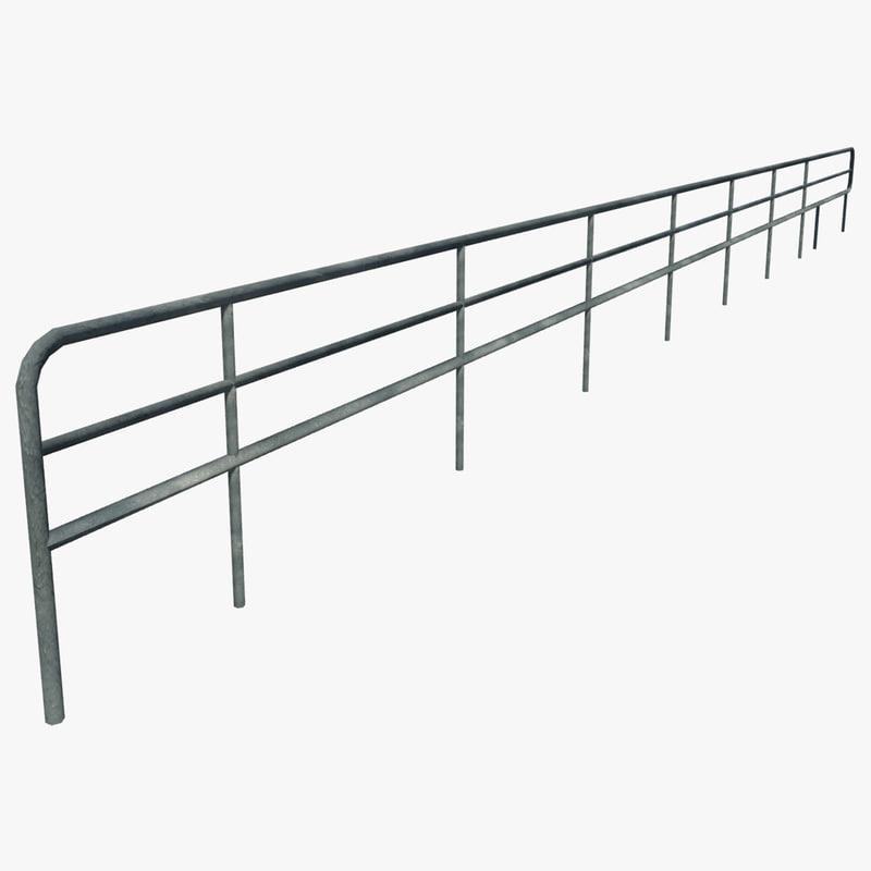 3d model resolution curved railing