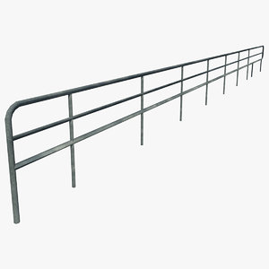 3d model resolution curved railing