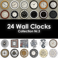 24 Wall Clocks Nr3