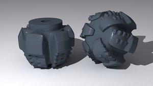 3d model drill bit