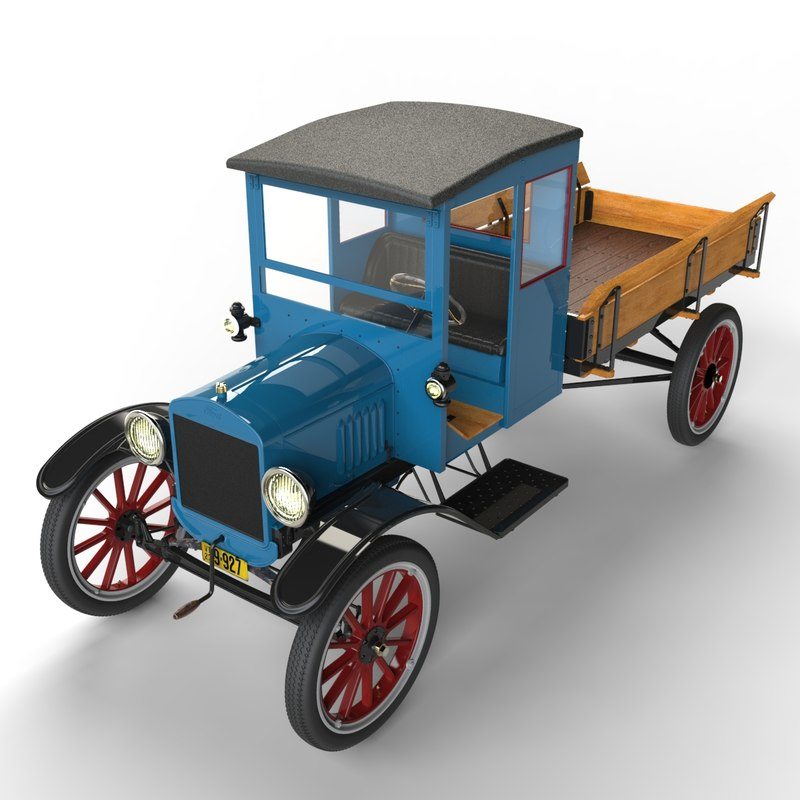 3d model automobile t trucking tt
