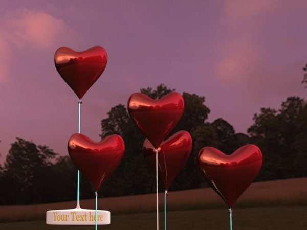 3d valentine balloons