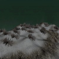 free mountain terrain snow 3d model