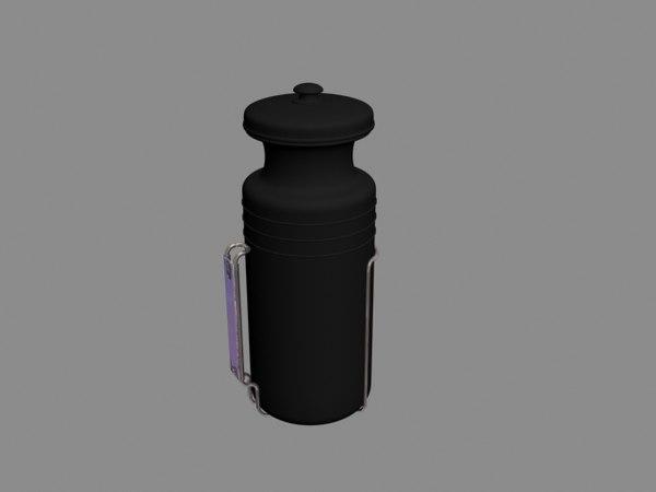 3d model sports water bottle holder