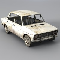 Low Poly VAZ 2103 Car