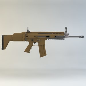3ds max assault rifle