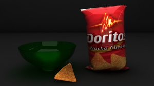 3d model chip doritos bowl
