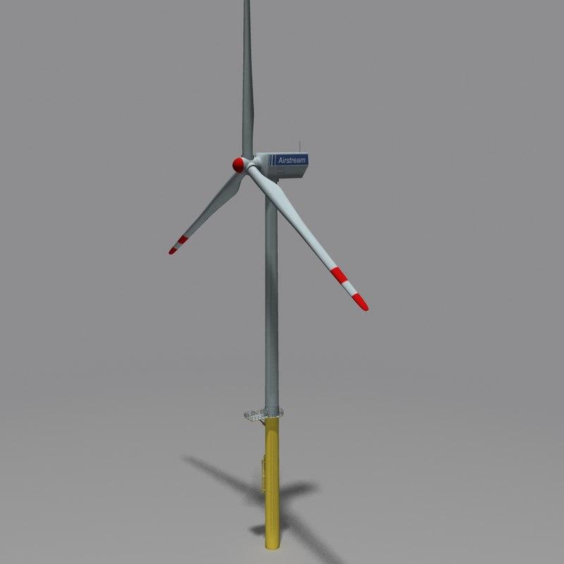 3dsmax horizontal wind turbine
