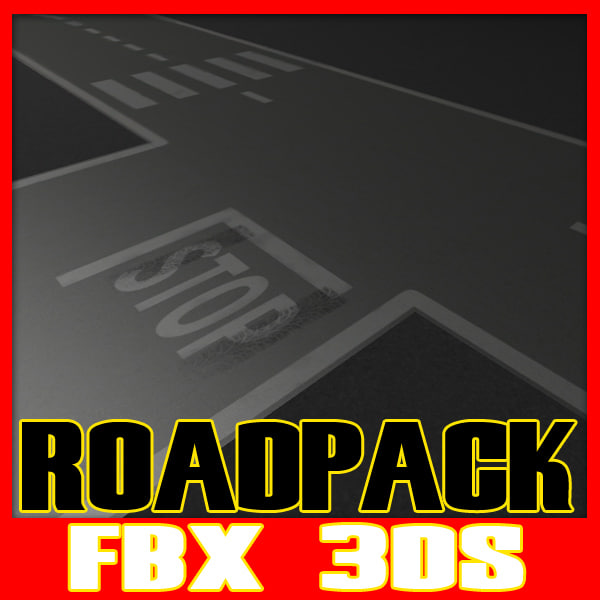 3ds max street road