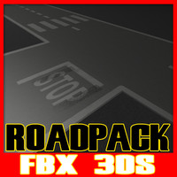 Street Road Texture 3ds Fbx Pack