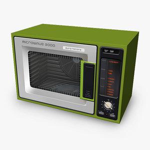 microwave retro 3dgm 3d obj