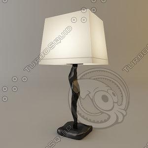 3d model objet insolite constantin lamp