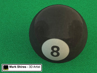 3d black 8 ball pool model