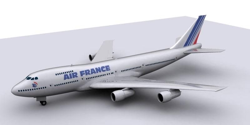 3d commercial aircraft model