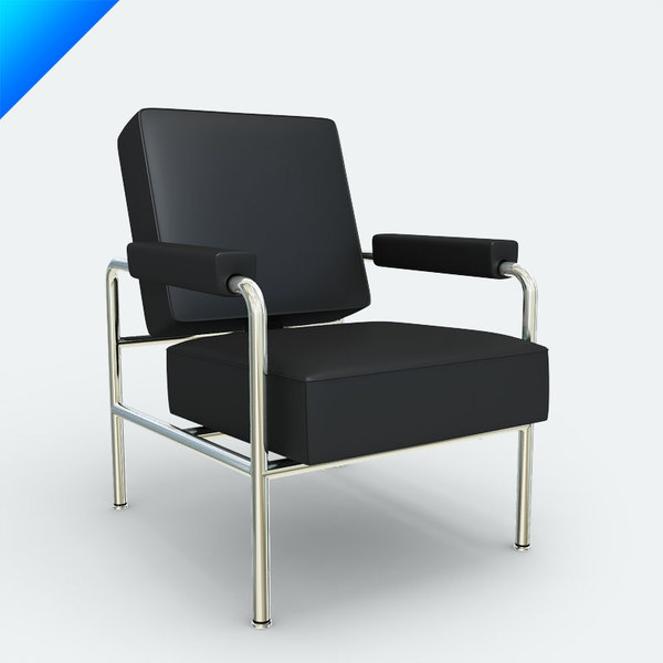 3d cassina lc13 armchair model