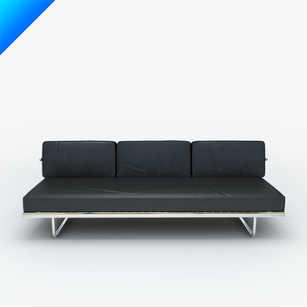 3d Model Cassina Lc5 F Divan Turbosquid 639733