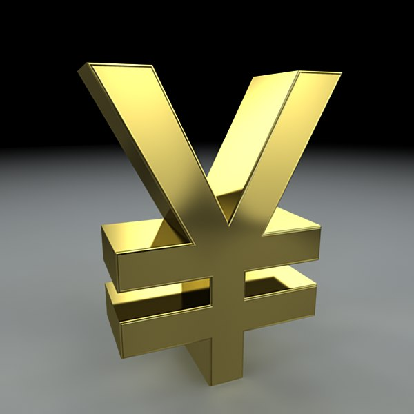 yen symbol 3d model