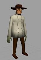 western doctor death 3d obj