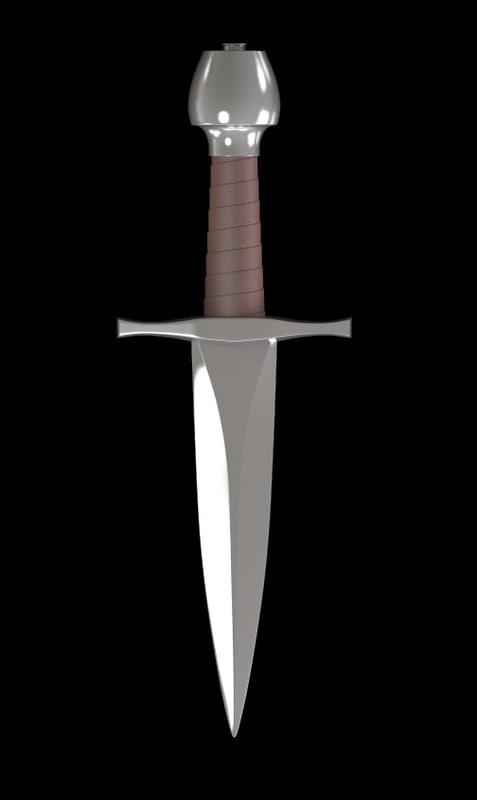 3d realistic dagger model