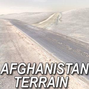 arab afghanistan terrain 3d max