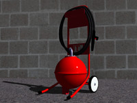 3d model extinguisher extincteur