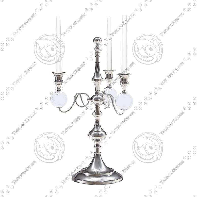 3d eichholtz candle holder santa model