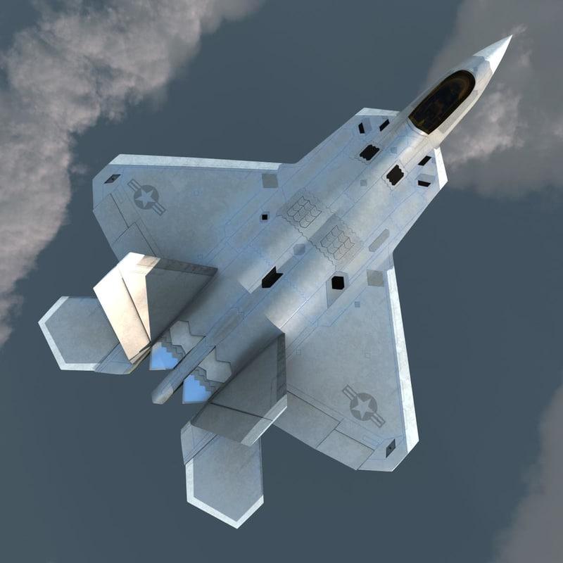 3d realistic f-22 raptor v2