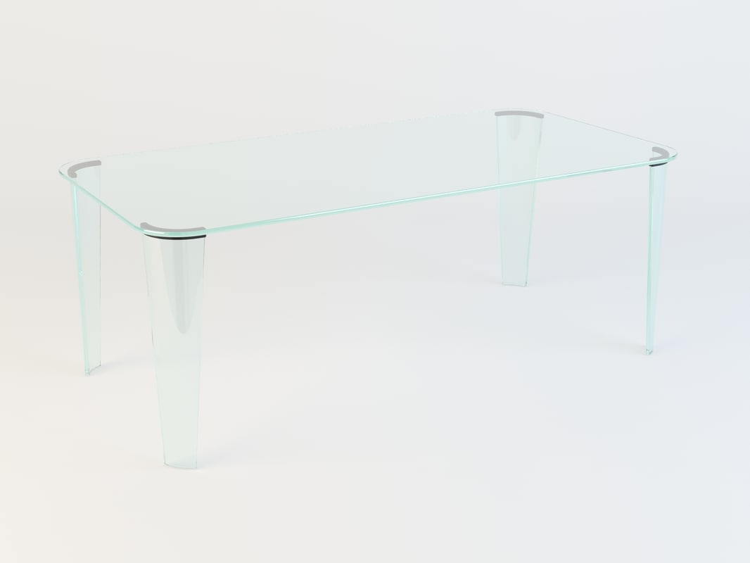 3d fiam montefeltro dining table model