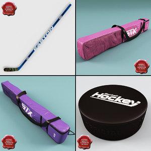 3ds max hockey stick v3