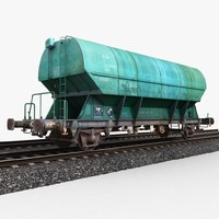 hopper wagon 1 3d model