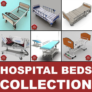 3d model hospital beds v3